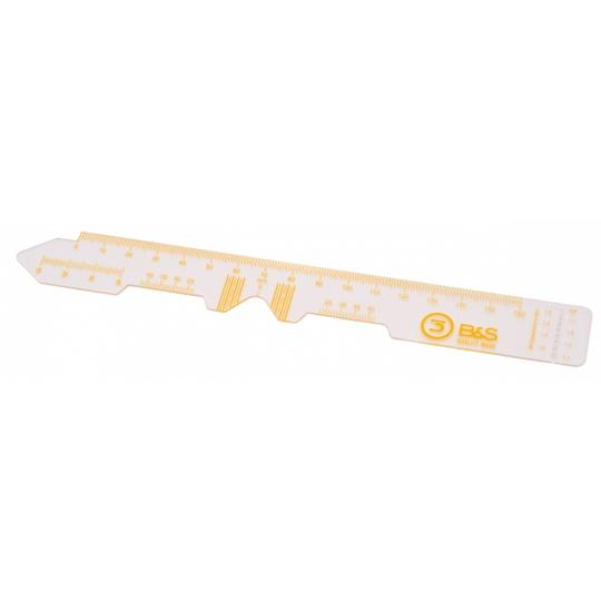 PD Ruler Transparent - 3 pieces
