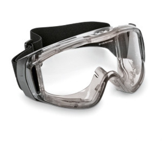Infield laboratory goggles with ventilation slits