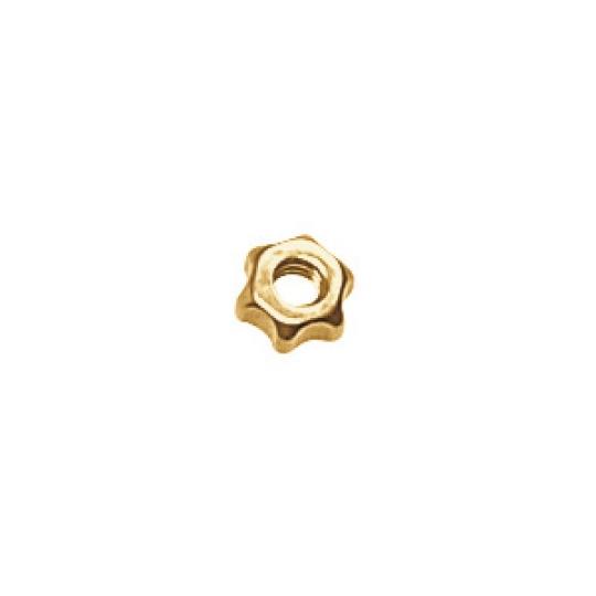 1.2 x 2.5mm Star Nut, Silver, Gold or Gunmetal - 100pcs