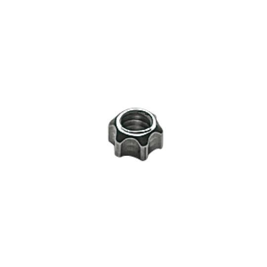 1.5 x 2.5mm Star Nut, silver - 100pcs