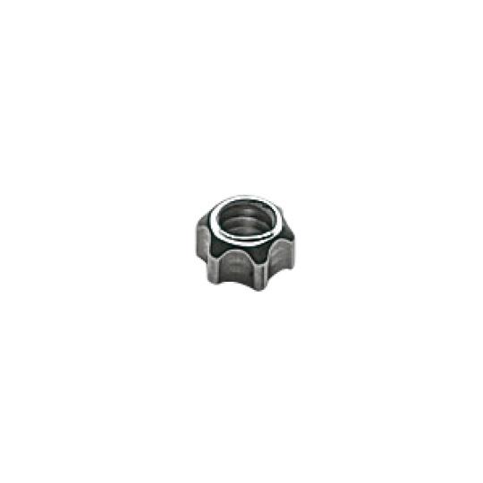 1.6 x 2.6mm Star Nut, silver - 100pcs