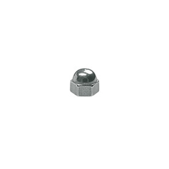 1.2 x 2.2mm Hex Dome Nut, silver, gold or gunmetal - 100pcs