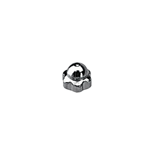 1.2 x 2.4mm Star Dome Nut, silver or gold - 100pcs