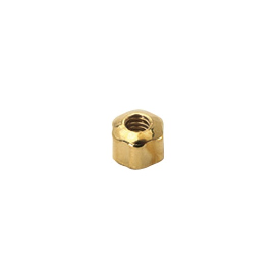 1.2 x 2.4mm Open Star Dome Nut, silver or gold - 100pcs