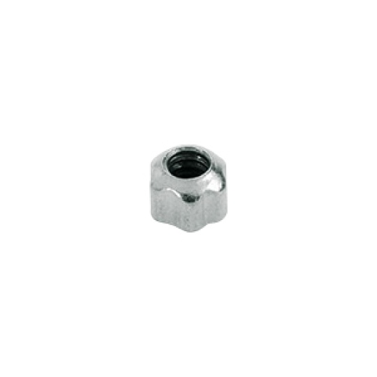 1.4 x 2.4mm Open Star Dome Nut, silver or gold - 100pcs