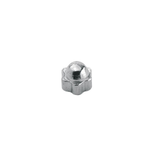 1.5 x 2.4mm Star Dome Nut, silver or gold - 100pcs