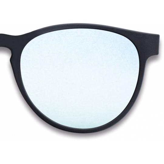 Black, grey (85-90% tint) blue mirror coating