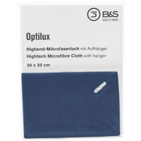 30 x 30cm Microfibre Cloth - Sewn edge with buttonhole 4 colours 5pcs