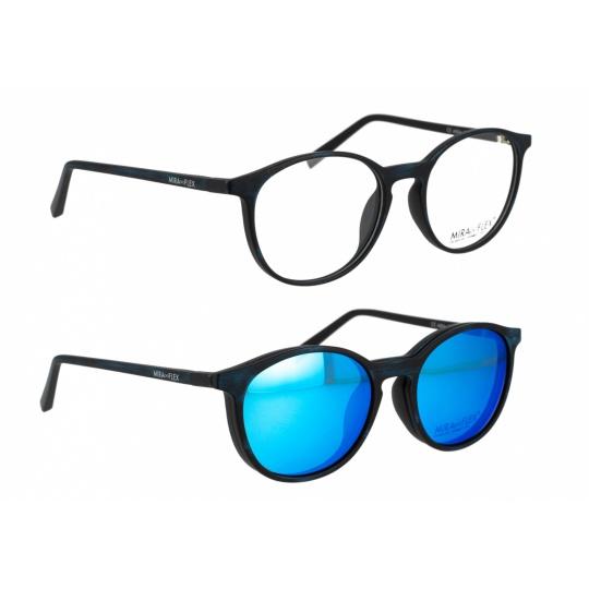 017 - Matt black brushed blue/Matt black brushed blue