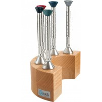 Professional Screwdriver Set in Wooden Stand