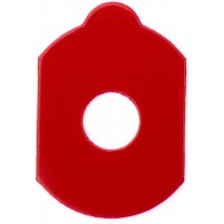 B&S Pads for Hydrophobic lenses - 30 x 19.5mm, Red