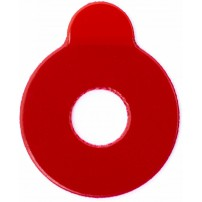 B&S Pads for Hydrophobic lenses - 22mm, Red