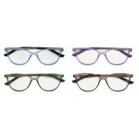 Plastic with metal temples, cateye
