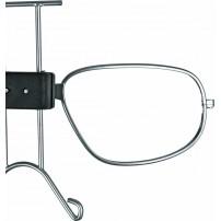 Metal clip for laboratory goggle