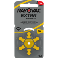 Rayovac Extra Advanced hearing aid batteries blister packs (all types)