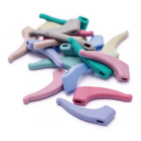 Silicone Non-Slip Temple Ends for Children, 28 colourful options - 5 pairs