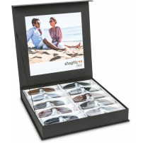 Assortment clip ons with presentation case, plastic frames